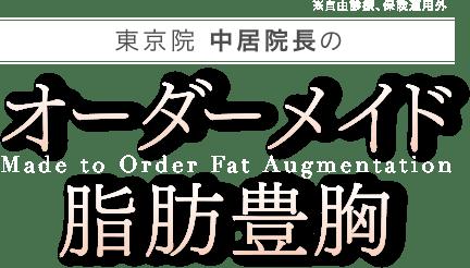 東京院 中居院長のオーダーメイド脂肪豊胸