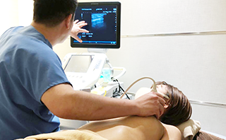 手術前後には必ずエコー検査を実施